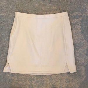 Jcrew off white wool mini skirt